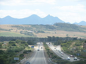 N2 road (South Africa) - N2 Freeway between George and Mossel Bay