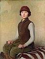 George Spencer Watson (1869-1934) - The saddlers daughter.jpg