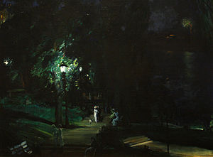 1909 in art - Image: George Wesley Bellows Summer Night, Riverside Drive (1909)
