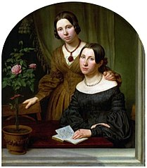 Portrait of two women.
