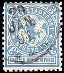 Germany Stuttgart 1890-99 local stamp 3pf - 14a used.jpg