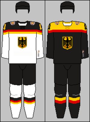 Germany men's national ice hockey team - Image: Germany national hockey team jerseys 2014