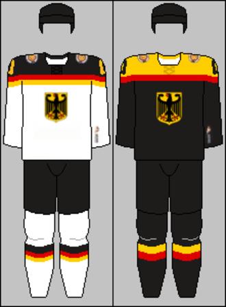 Germany men's national ice hockey team - Image: Germany national hockey team jerseys 2014