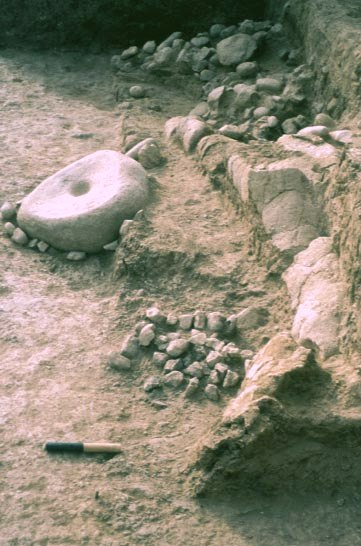 Gesher Pre-Pottery Neolithic A rounded building