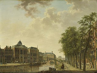 View of the Houtmarkt in Amsterdam