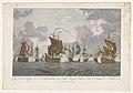 Gezicht op het afbranden van Turkse schepen in de haven van Cesme op 7 jui 1770 Vuë de la ruine, et de l'embrasement des flottes Turques dans le port de Cismin le 7. juillet 1770 (titel op object), RP-P-1932-281.jpg