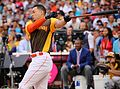 Giancarlo Stanton competes in semis of '16 T-Mobile -HRDerby. (28496642301).jpg