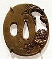 Giappone, periodo edo, tsuba (coprimano da elsa di spada), xviii e xix secolo, 04 tigre.jpg
