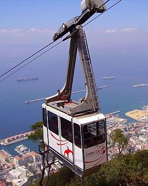 Gibraltar Cable Car - Image: Gibraltar Cable Car 4