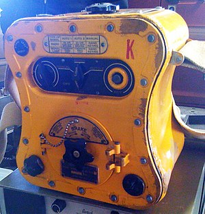 """Human power - BC-778 """"Gibson Girl"""" radio transmitter."""