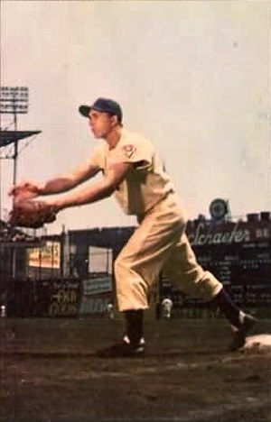 Gil Hodges - Hodges at Ebbets Field, circa 1953