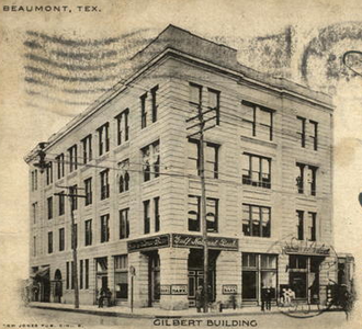 Gilbert Building (Beaumont, Texas) - Early 1900s photo of the Gilbert Building