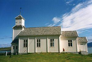 Gimsøya - Image: Gimsoy kirke