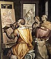 Giorgio Vasari - St Luke Painting the Virgin (detail) - WGA24312.jpg
