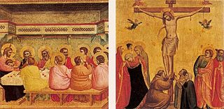 Seven panels with scenes from the Life of Christ