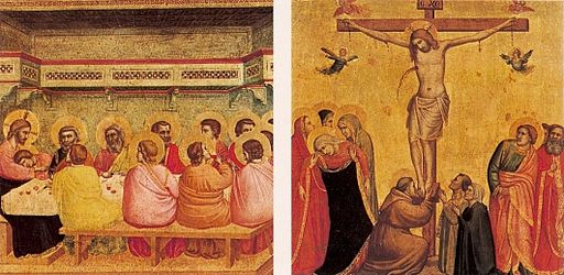 Giotto. Last Supper and Crucifixion. Alte Pinakothek, Munich. c. 1320-25.