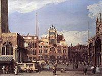 Giovanni Antonio Canal, il Canaletto - Piazza San Marco - the Clocktower - WGA03885.jpg