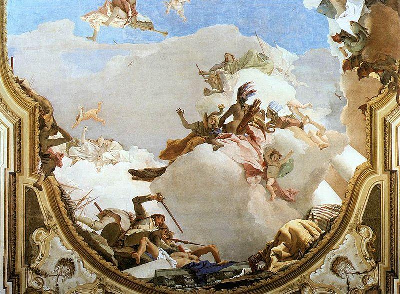 [peinture] Vos oeuvres préférées - Page 2 800px-Giovanni_Battista_Tiepolo_-_The_Apotheosis_of_the_Pisani_Family_%28detail%29_-_WGA22363