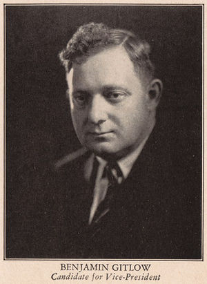 Lovestoneites - Ben Gitlow, Secretary of the Communist Party Opposition from 1930-32, led a split early in 1933 over the group's unwillingness to criticize forced collectivization and its consequences in the USSR.