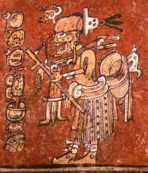 Maya death gods - God A way as a hunter, Classic period