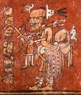 Maya death gods - God A way as a hunter, Classic period