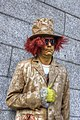 Golden mime (standing totally still in front of Bank of Ireland in Dublin) (8204132191).jpg