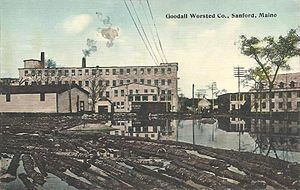 Sanford, Maine - Goodall Mills c. 1912