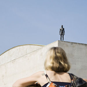 Antony Gormley - 1 of 31 actual size figures on London's skyline in Event Horizon