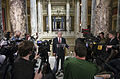 Governor Mark Dayton speaking to the press during budget negotiations, June 27, 2011.jpg