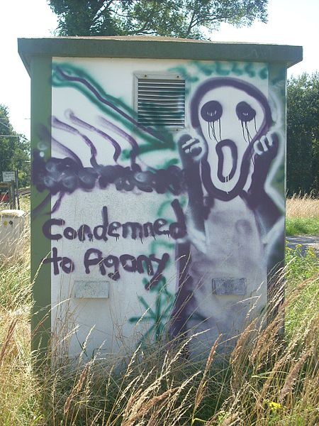 File:Graffito Condemned to Agony.jpg
