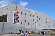 Gran Canaria Arena with a poster of the FIBA Basketball World Cup.jpg