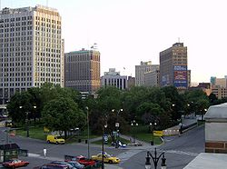 Grand Circus Park elevated angle - Detroit Michigan.jpg