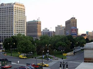 Grand Circus Park Historic District - Looking southwest