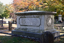 Grave of Benjamin Lincoln (1733-1810), Hingham Cemetery, MA