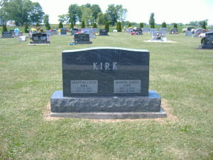 Grayson L. Kirk - Grave of Grayson L. Kirk and his wife Marion Sands Kirk at Fairview Cemetery in Jeffersonville, Ohio.