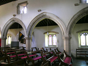 Great and Little Kimble - North arcade of nave (c1250)