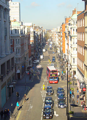Great Portland Street - Great Portland Street marks the border of Marylebone and Fitzrovia
