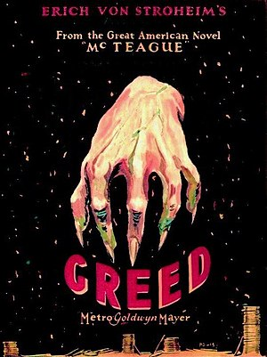 Greed (film) - Theatrical release poster