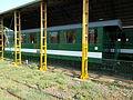 Green railway coach at Mátravasút depot. - Gyöngyös.JPG