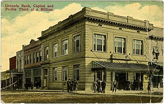 National Register of Historic Places listings in Grenada County, Mississippi - Image: Grenada Bank