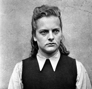 Irma Grese, who was in charge of the Bergen Be...