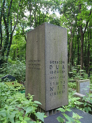 Gershon Dua-Bogen - Gershon Dua-Bogen's gravestone in Warsaw.
