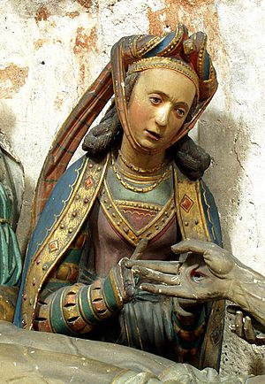 Mary Magdalene - Mary in fine clothes, from a German group of the Entombment of Christ