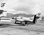 Grumman QF-9G Cougar of VU-8 at at Naval Station Roosevelt Roads on 17 June 1965 (NNAM.2011.113.127).jpg