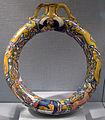 Gubbio, attr. bottega di maestro vittorio detto il prestino, fiasca d'anello, 1530-40 ca..JPG