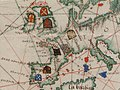 Guillaume Brouscon. World chart, which includes America and a large Terra Java (Australia). HM 46. PORTOLAN ATLAS and NAUTICAL ALMANAC. France, 1543.C.jpg
