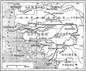 "Fuladu - ""Fouladougou"" (upper centre) on a 1906 map"