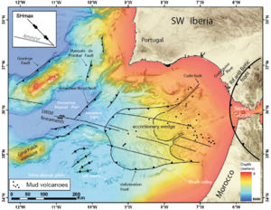 Gulf of Cádiz - Tectonic map of the Gulf of Cádiz region
