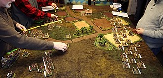 Miniature wargaming - A miniature wargame, Hannibal at the Gates, simulating a battle from Ancient Greece