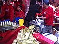 HK CWB 維園年宵市場 Victoria Park Fair - food 鮮搾蔗汁 Sugarcane Juice machine Jan-2012.jpg